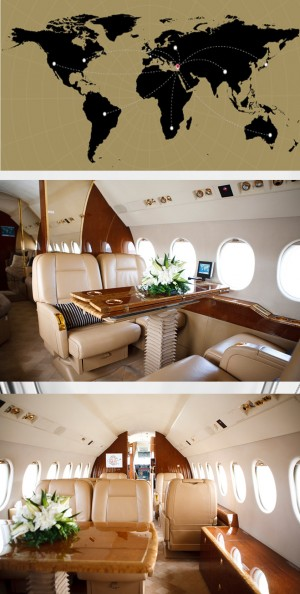 private jet cyprus dassault falcon 900c inside